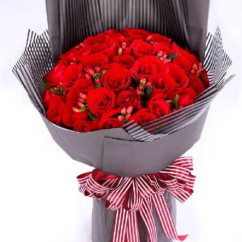 33支红玫瑰/爱你到永远杭州温馨花坊