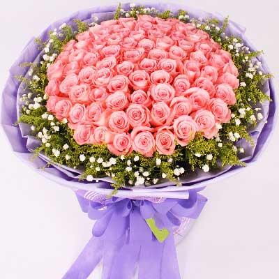 66支粉玫瑰/爱你到永远幸福鲜花婚庆