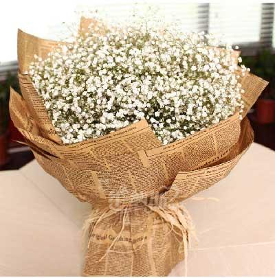 真诚的祝福你幸福、快乐永远/满天星鲜花依恋幽梦鲜花店