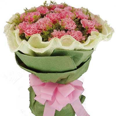 新鲜花艺珍惜您/精选19支优质粉色康乃馨