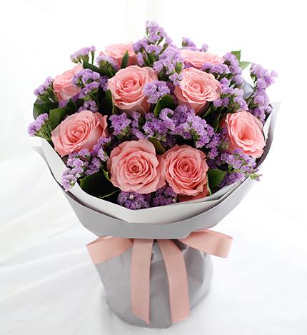 黛安娜玫瑰9枝/你是我的唯一花花世界