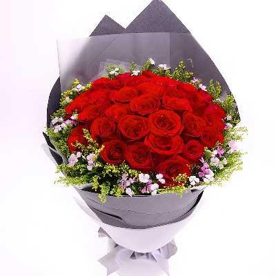 上海松江区心怡花店33枝红玫瑰/做我一生唯一的情人吧