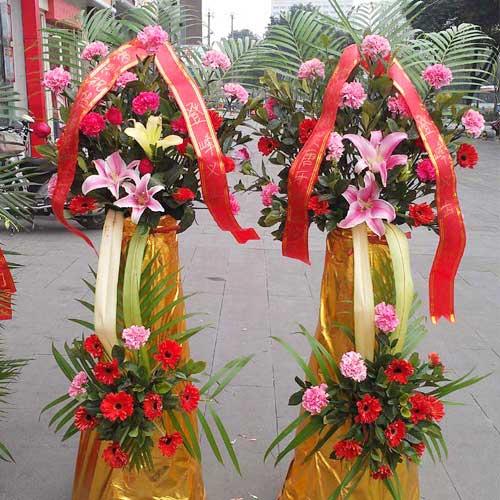 上海连心缘鲜花开业花篮/蒸蒸日上