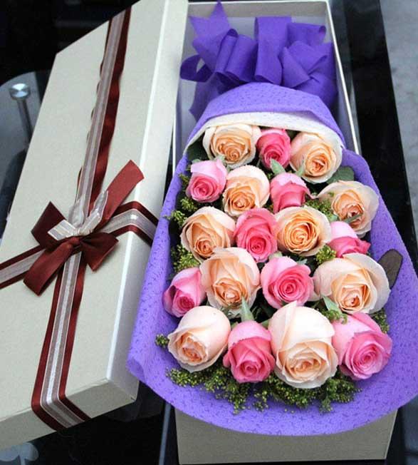19支玫瑰/爱你天长地久十里桃花花坊