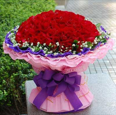 杭州温馨花坊99支红玫瑰/情有独钟