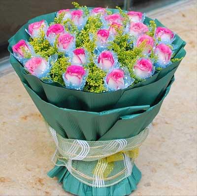 19枝玫瑰/我想你,愿你更加美丽依恋幽梦鲜花店