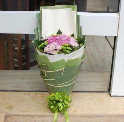 19枝紫玫瑰/盼你,想你乐喜鲜花店