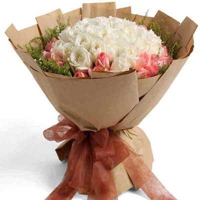 52支玫瑰/精心呵护我们的爱陌上花开朝晖店