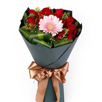长安浪漫花都红玫瑰11支/你让我怎样的着迷