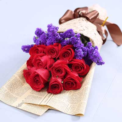 深圳花满楼龙华龙岗店红玫瑰11支/伴你笑对每一天的日出与日落