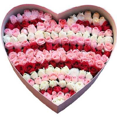 灵溪镇爱尚花屋99支混搭玫瑰/你的出现,便有了停靠的港湾