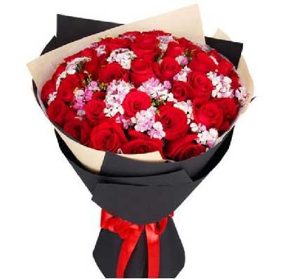 33支红玫瑰/鲜花代表我的心,想你了吾爱花橱鲜花店
