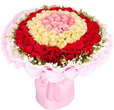 99枝玫瑰/甜蜜绕,幸福生活因有你嫣然花卉