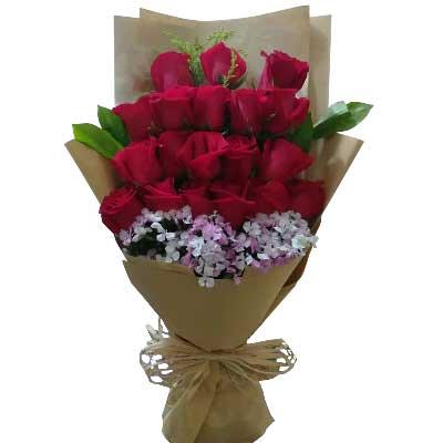 你是我命中注定的另一半/19枝玫瑰情缘鲜花速递