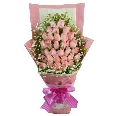 我的爱永远留给您/36支粉色玫瑰温州168鲜花