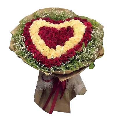 此刻我只想对你说:亲爱的,我爱你/99枝玫瑰上海花姑子