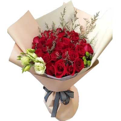 我爱你无尽头/29支红色玫瑰幸福花艺