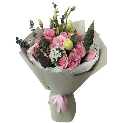 我的心中只装得下一个你/11支戴安娜玫瑰紫银花坊