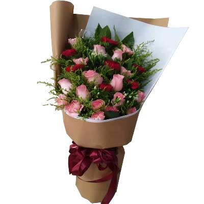 愿你越来越美丽/22支玫瑰上海兰兰花店
