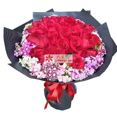 30枝红玫瑰/一见钟情乐喜鲜花店