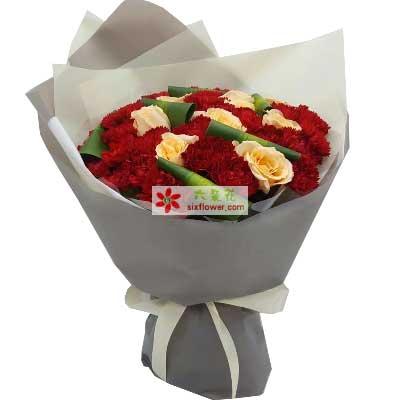 方圆鲜花让祝福永不改变/19支康乃馨玫瑰
