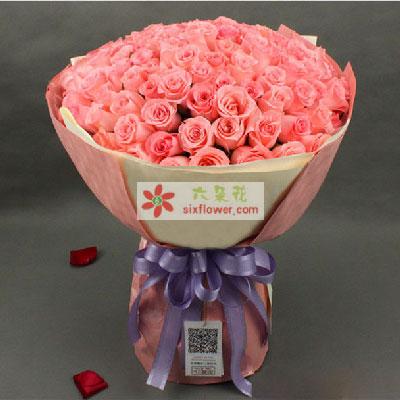 你我今生最大的幸福/99支戴安娜玫瑰西安蓝岛花卉