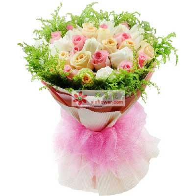 爱的哲理/33支玫瑰成都千色花艺