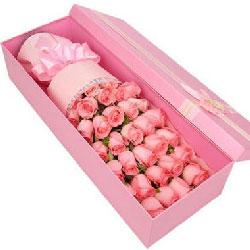 一生的爱/33枝粉玫瑰