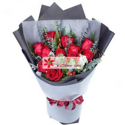 情缘鲜花速递爱无边无际/11支红玫瑰