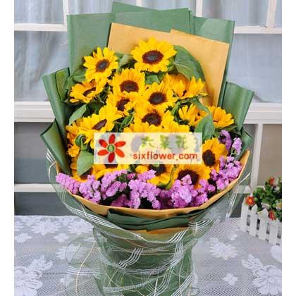 长沙创境花间19支向日葵,愿您每日安康