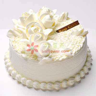 8寸鲜奶蛋糕天津百合鲜花店