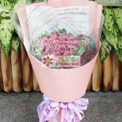 不能没有你/33枝紫玫瑰上海青浦绿图花卉园艺场