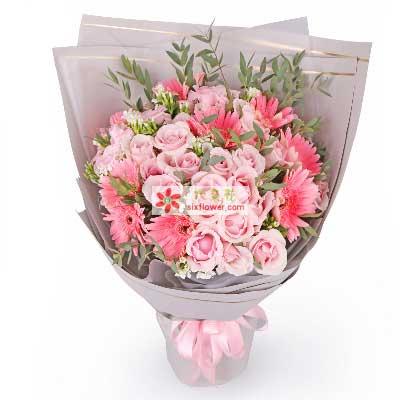 心芳园花坊美丽的爱/33支粉玫瑰
