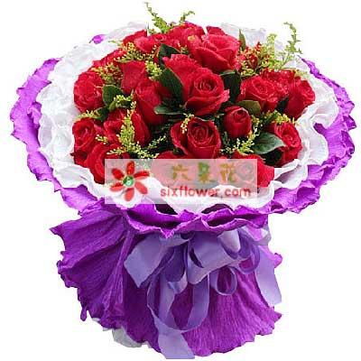 唯美花艺最美的祝福/33枝红玫瑰