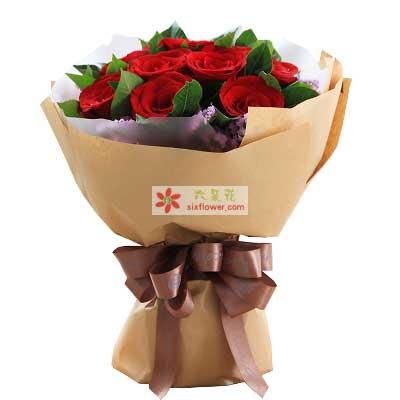 好好的陪着你/红玫瑰11支富阳百草园花艺