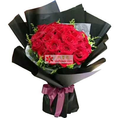 最真的爱/21支红色玫瑰大连永合鲜花礼仪
