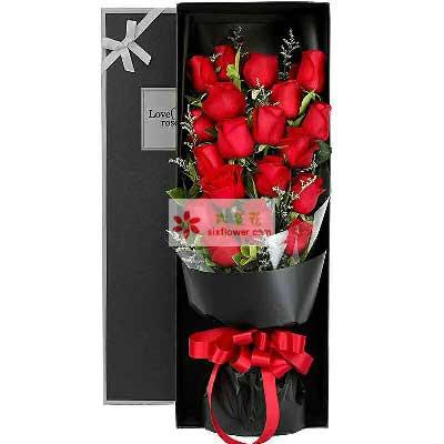 浪漫花店浓浓的爱/21支红色玫瑰