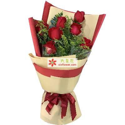7支玫瑰/为你钟情沁香阁鲜花礼品