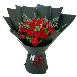 真诚的诺言/21枝红色玫瑰