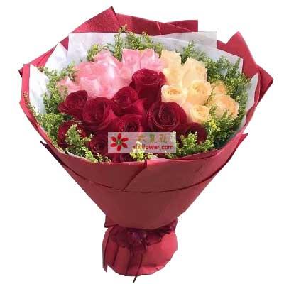 西青区花锦坊一生的追求/33支玫瑰