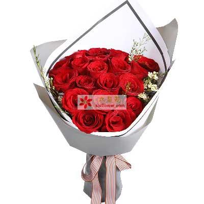 情缘鲜花速递爱你就像爱生命/19枝红玫瑰