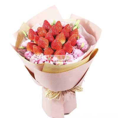 西青区花锦坊爱终身不变/19颗草莓