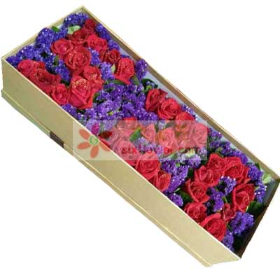 33支红色玫瑰礼盒/我想你了锦官城花艺