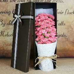 每天都有好心情/33枝粉色康乃馨
