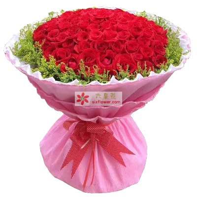 陌上花开朝晖店白首不相离/99支红色玫瑰