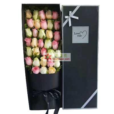 漂亮花坊你是我最美的相遇/33支玫瑰礼盒