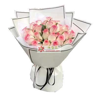 你是红花我是绿叶/33支红袖玫瑰增城良缘花坊