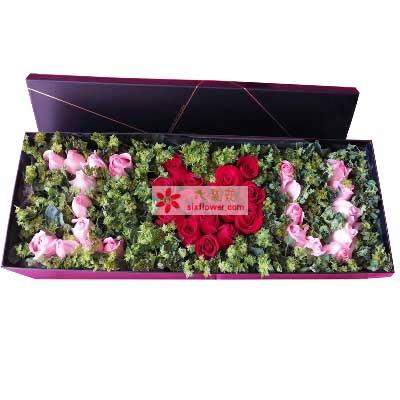 优昙花屋与你牵手到永久/33支玫瑰礼盒