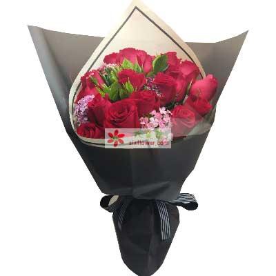广州花开19支红玫瑰/相伴到永远