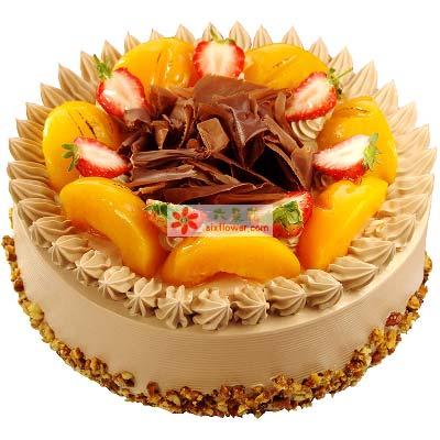有你真好/圆形水果蛋糕南京花卉